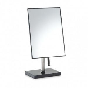 Oglinda cosmetica de masa dreptunghiulara neagra din inox si plastic 16x30 cm Bonnie Zeller