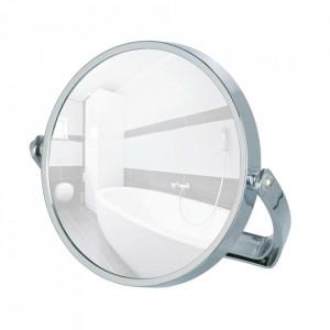 Oglinda cosmetica de masa rotunda argintie din metal 19 cm Noale Wenko