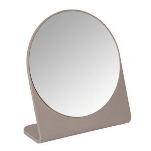 Oglinda cosmetica de masa rotunda grej din polistiren 17,5x19 cm Marcon Wenko