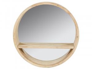 Oglinda din lemn din arbore de cauciuc 45 cm Industrial Round Santiago Pons