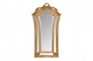 Oglinda dreptunghiulara aurie cu rama din lemn 115x207 cm Baroque Versmissen