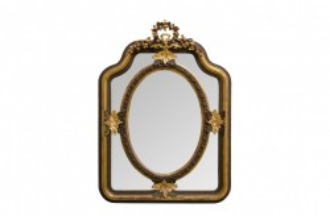 Oglinda dreptunghiulara aurie cu rama din lemn 90x120 cm Baroque Versmissen