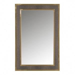 Oglinda dreptunghiulara aurie din inox si poliuretan 60x90 cm Bara Richmond Interiors
