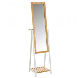 Oglinda dreptunghiulara din metal si lemn 41x160 cm Abi Unimasa