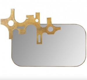 Oglinda dreptunghiulara maro din aluminiu 54x81 cm Savage Mirror Bronze Versmissen