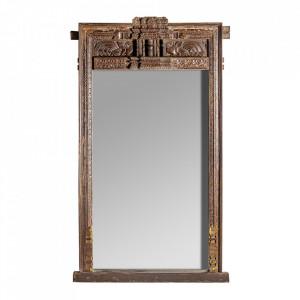 Oglinda dreptunghiulara maro din lemn 104x187 cm Anne Vical Home