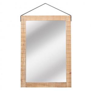 Oglinda dreptunghiulara maro din lemn 70x100 cm Carla LABEL51