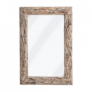 Oglinda dreptunghiulara maro din lemn 85x125 cm Lara Vical Home