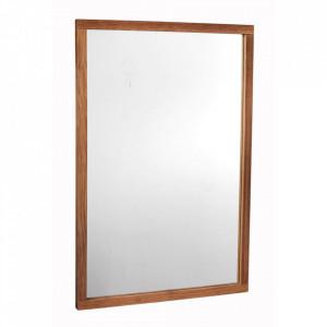 Oglinda dreptunghiulara maro din lemn de stejar 60x90 cm Confetti Rowico Home
