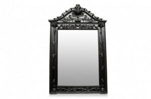 Oglinda dreptunghiulara neagra cu rama din lemn 163x267 cm Baroque Versmissen
