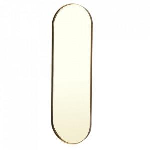 Oglinda ovala aurie din metal 36x117 cm Pill Pols Potten