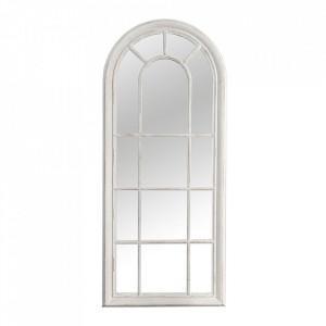 Oglinda ovala gri antichizata/alba din lemn 60x140 cm Castillo Invicta Interior