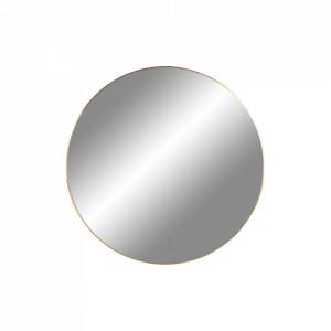 Oglinda rotunda aurie din otel 40 cm Jersey House Nordic