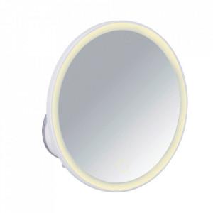 Oglinda rotunda cu LED alba din plastic 18 cm Isola Wenko
