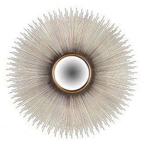 Oglinda rotunda maro alama din fier si MDF pentru perete 90 cm Cass Richmond Interiors