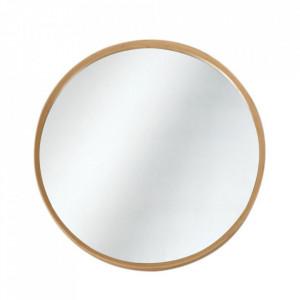 Oglinda rotunda maro din bambus 60 cm Alisa Quax