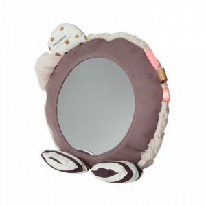 Oglinda rotunda multicolora din bumbac si poliester pentru copii 23 cm Powder Done by Deer