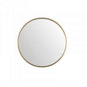 Oglinda rotunda neagra din MDF si sticla 50 cm Antique Gold Lifestyle Home Collection