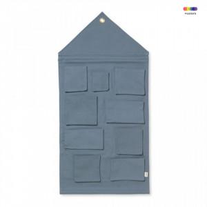 Organizator albastru din bumbac pentru perete Anne Dusty Blue Ferm Living