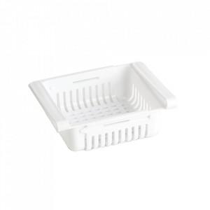 Organizator extensibil pentru frigider alb din polipropilena Sora Zeller