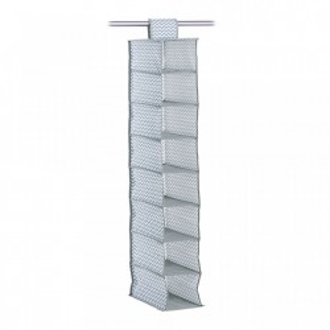 Organizator gri/alb din fleece Hanging Storage White Eight Zeller