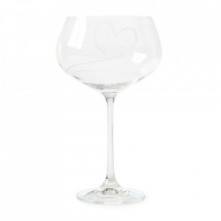 Pahar de vin transparent din sticla 20 cm Love Red Riviera Maison