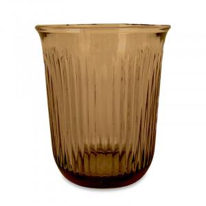 Pahar maro chihlimbar din sticla 8,5x10 cm Jules Opjet Paris