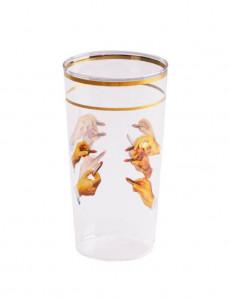 Pahar multicolor din sticla 7x13 cm Lipsticks Toiletpaper Seletti