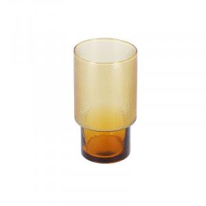 Pahar portocaliu din sticla 8x14 cm Naussica La Forma
