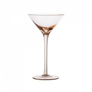 Pahar roz din sticla pentru cocktail 240 ml Liga Bloomingville