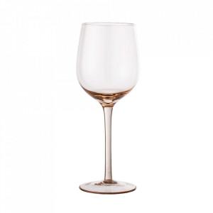Pahar roz din sticla pentru vin 480 ml Liga Bloomingville