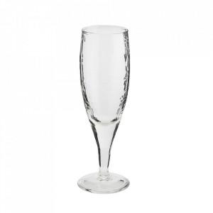 Pahar transparent din sticla pentru sampanie 5x19 cm Vital Madam Stoltz