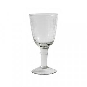 Pahar transparent din sticla pentru vin 9x18 cm Rina Nordal