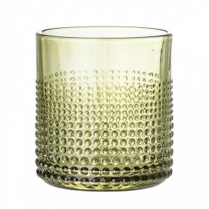 Pahar verde din sticla pentru apa 8x8,5 cm Bloomingville