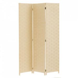 Paravan crem din hartie 175 cm Braided Paper Beige Unimasa