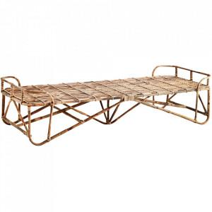 Pat de zi maro din lemn de bambus 187 cm Manya Madam Stoltz