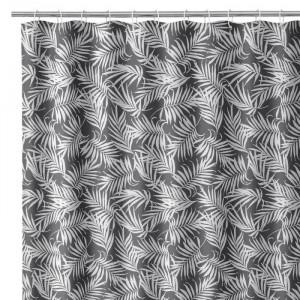 Perdea dus neagra/alba din poliester 180x200 cm Palm Unimasa
