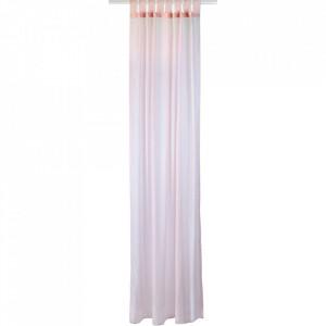 Perdea roz din poliester 140x250 cm Flair Bolia