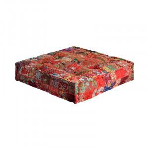 Perna de podea patrata multicolora din textil 80x80 cm Dream Giner y Colomer