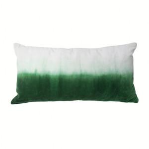 Perna decorativa dreptunghiulara alba/verde din textil 30x60 cm Forest HK Living