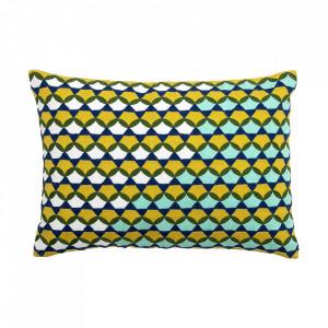 Perna decorativa dreptunghiulara multicolora din bumbac 35,5x51 cm Belinda Bloomingville