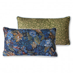 Perna decorativa dreptunghiulara multicolora din PET 35x60 cm Doris Blue HK Living