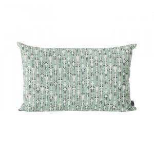 Perna decorativa dreptunghiulara verde din bumbac 40x60 cm Vivid Ferm Living