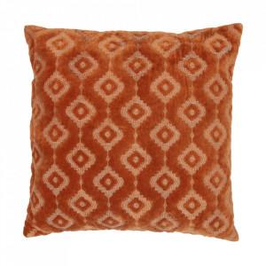 Perna decorativa patrata maro teracota din catifea 50x50 cm Bricks Be Pure Home