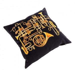 Perna decorativa patrata multicolora din poliester 50x50 cm Trumpets Toiletpaper Seletti