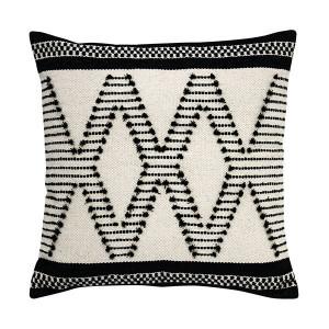 Perna din bumbac alb/negru 50x50 cm Aztec Knots HK Living