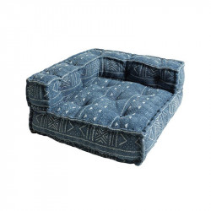 Perna modulara de podea patrata albastra din bumbac 80x80 cm Sky Giner y Colomer