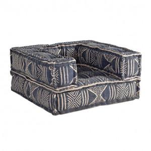 Perna modulara de podea patrata albastra din bumbac 80x80 cm Yanis Giner y Colomer