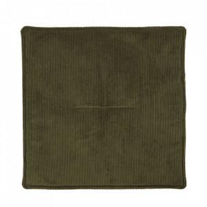 Perna sezut patrata verde din poliester 35x35 cm Cord House Doctor