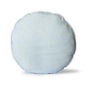 Perna sezut rotunda albastru gheata din in 60 cm Armen HK Living